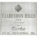 PP ADVOCATE WINES ~ Clarendon Hills ~ TURBO Syrah 2001 ~ McLaren Vale ~ 20.5% Alc.