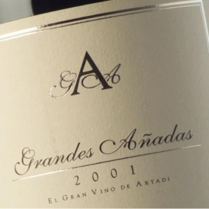 Artadi Grandes Añadas 2001 ~ 98RP